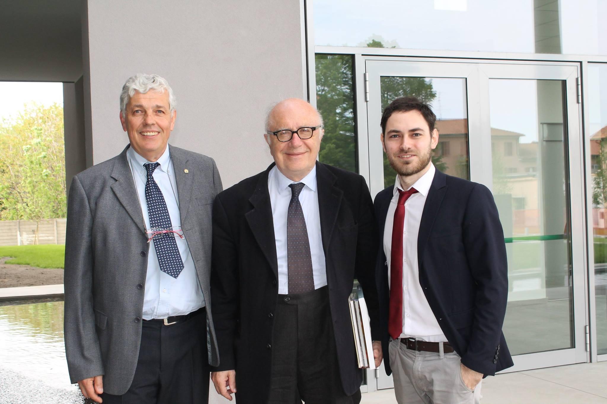 Con l'Ing. Alvaro Canciani e il Prof. Bruno Lamborghini