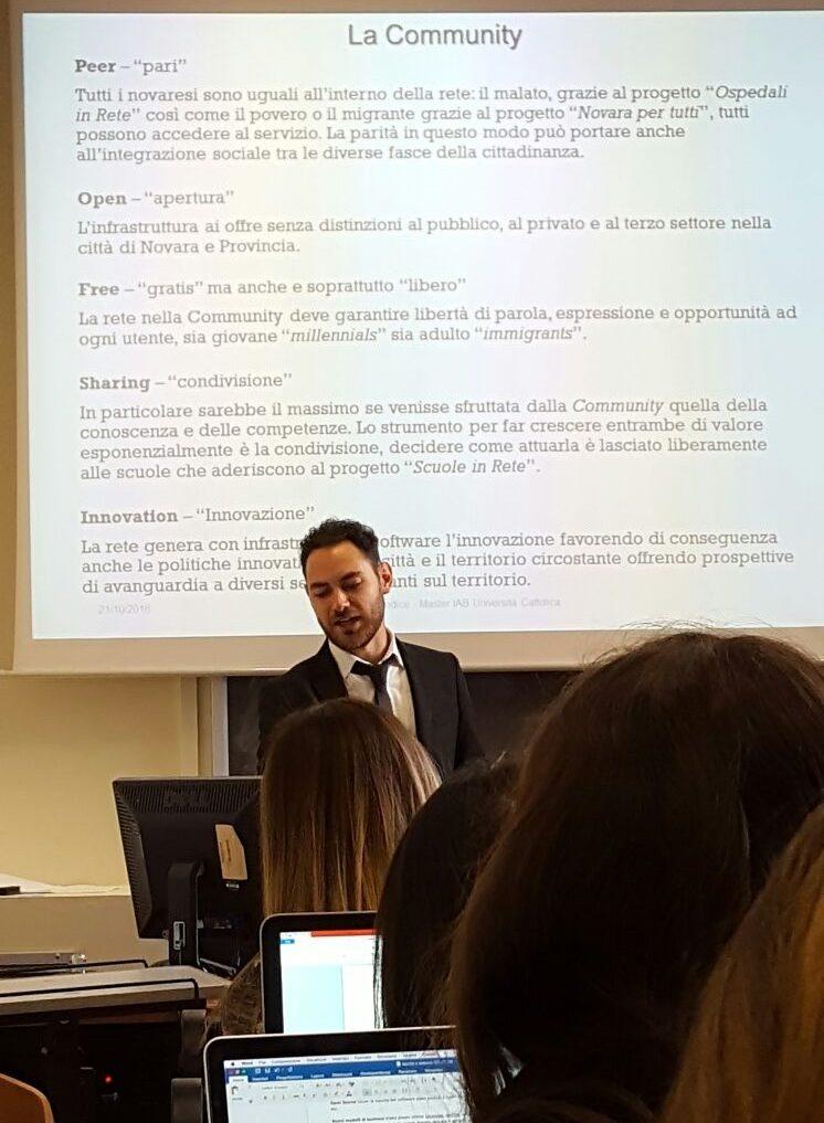Iodice Francesco Umberto al Master IAB Università Cattolica di Milano