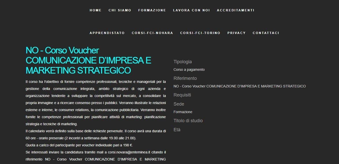 corso di formazione Associazione Minea Novara